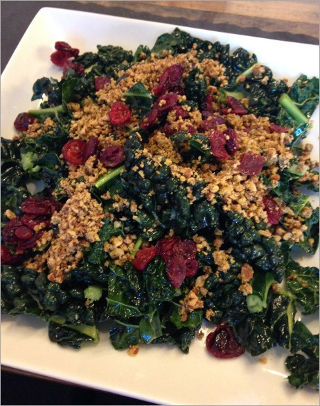Kale salad with dried cranberries