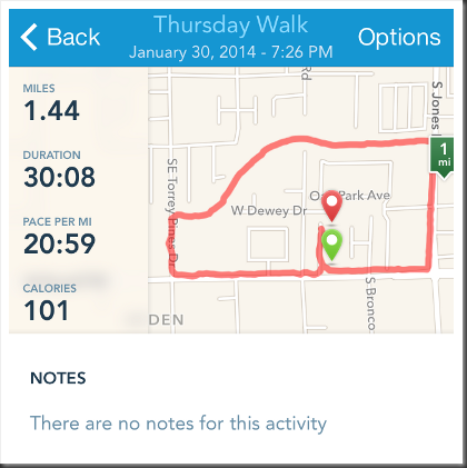 Runkeeper tracks your walk or run