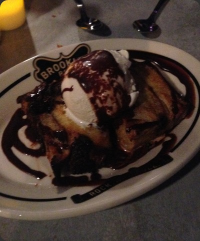 Chocolate Chip Bread Pudding at Brooklyn Bowl Las Vegas