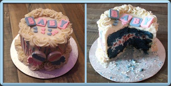 Gender Reveal Baby Cake
