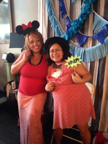 Pregnant Mums Carrie & Jen at the baby shower